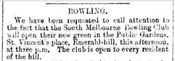 1873 Dec 6th The Age Bowling