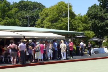 Functions Guests outside Clubhouse
