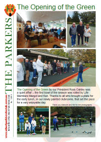Parkers newsletter page1