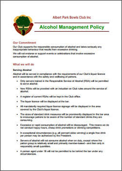 Resources - alcohol management policy